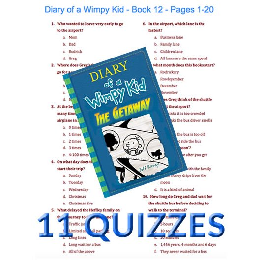 Diary Of A Wimpy Kid Quizzes Quiz Comprehension Word Searches And More